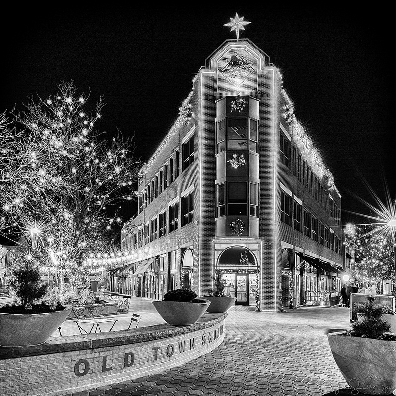 Old Town Holiday Lights by Jeanie Sumrall-Ajero
