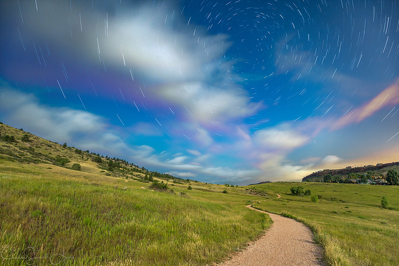 Star Trails over Soderberg Open Space by Jeanie Sumrall-Ajero